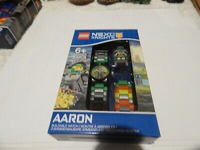 AARON   NEXO KNIGHTS LEGO BUILDABLE  WATCH  8020523 LEGO 24 PCS AGE 6+