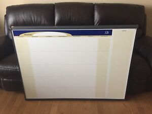 REDUCED! Dry Erase Calendar Board