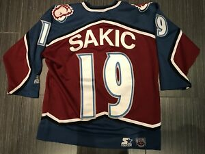 Starter Joe Sakic Colorado Avalanche Youth Hockey Jersey