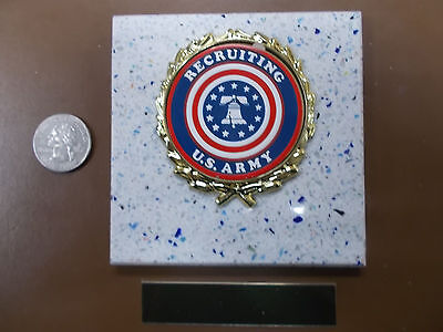 - US ARMY RECRUITING New Plaque Tile AWARD - GIFT w/ Gold Wreath +Insert FAST SHIP