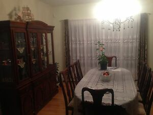 Dining room set with living room set