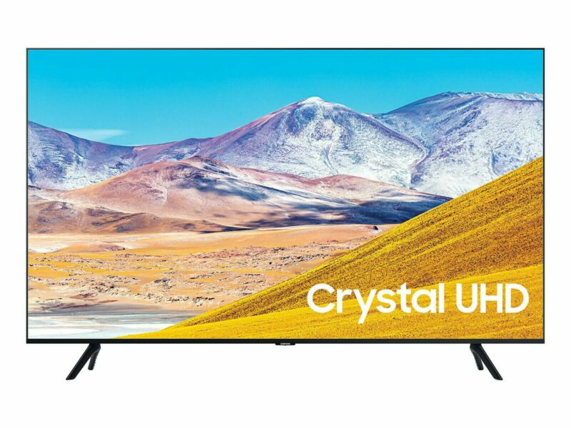 "Samsung TU8000 65"" 4K Crystal Ultra HD HDR Smart TV - 2020 Model"