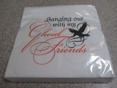 """NIP Halloween """"Hanging Out with My Ghoul Friends"""" Paper Dinner Napkins 24 Count"""