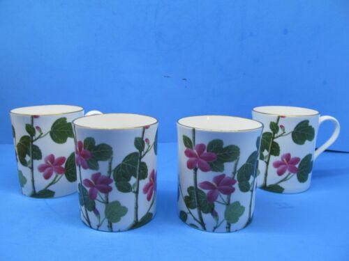 "Spode England Chinese Flowers Mallow 3 5/8"" Mug Set Of 4 Mugs EUC"
