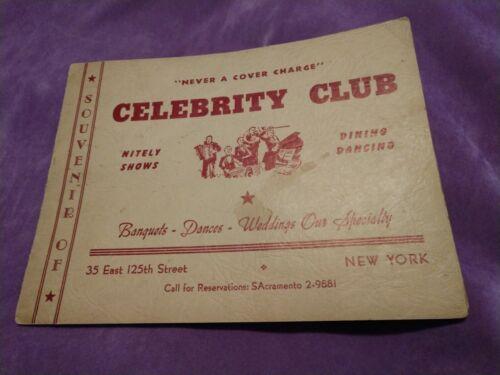 CELEBRITY CLUB NYC / Iconic African American Harlem Night Club! Photo! Scarce.