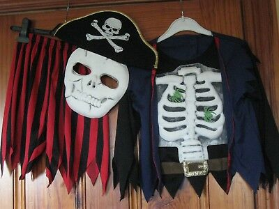 Halloween Pirate's 3 Piece Outfit age 3-4 Marks and Spencer Only Worn Once