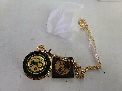 Vintage Franklin Mint John Deere Tractor 'Model B' Pocket Watch NEW