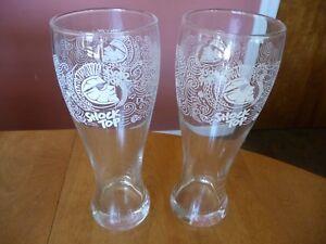 Shock Top Belgian White Witbier Pilsner 16oz Beer Glass Glasses, Set of 2 - NEW