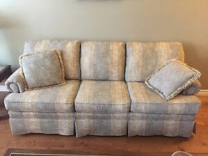 Couch and Loveseat with tables