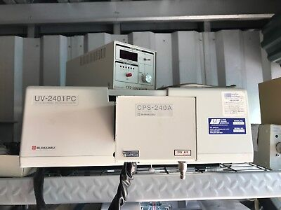 Shimadzu 2401 Uvvis Spectrophotometer With Kinetics Package Inc Cps Controller