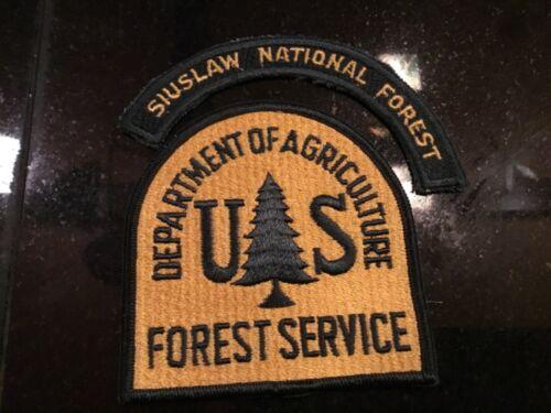 Vintage Siuslaw National Forest park ranger uniform sleeve patches Agriculture