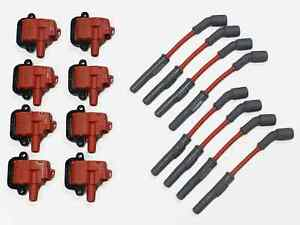 ls1 coil packs msd wires red and 8 vms pro high output performance ignition coil packs ls1 ls6