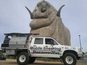 MOBILE SHEARING Sheep, Alpaca & Goat SHEARPOWER2EWE SHEARER'S Sydney Region Preview