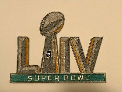 """SUPER BOWL 54 PATCH LIV 5"""" Embroidered Patch Iron On /Sew On 2/2/2020"""