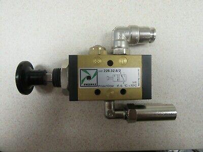 Pneumax Push Button Pneumatic Control 228.32.82 Unused