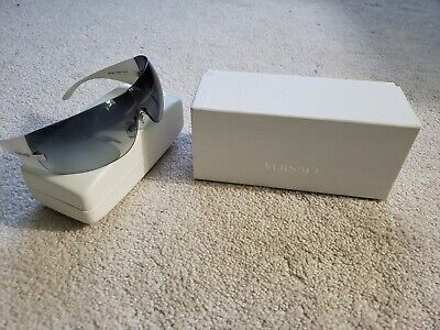 Authentic Versace Sunglasses Mod: 2054 1000 / 8G 115 3N Grey/White Men/Women