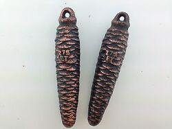 Cuckoo Clock Weights One Pair of German Black Forest  275 grams each