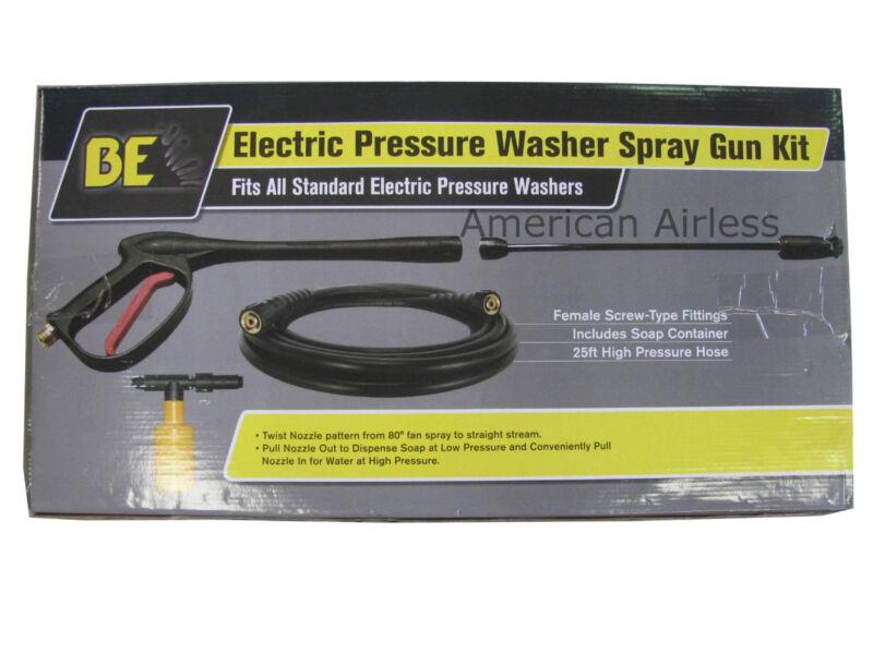 BE Electric Pressure Washer Spray Gun Kit
