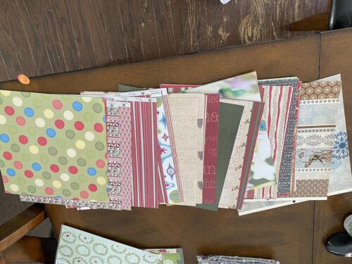 Huge Scrapbooking Paper Lot 88 12x12 Paper, 4 Kits Stampin Up Stamp Set  - $12.99