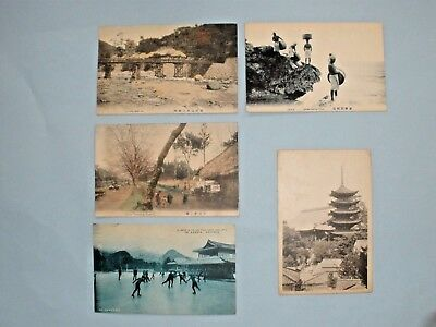 Vintage Japanese Postcard different locations in Japan