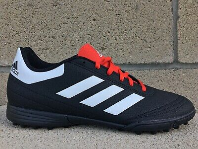 New Adidas Goletto VI TF Mens Size 8 Black Red Leather Indoor Soccer Shoe G26369