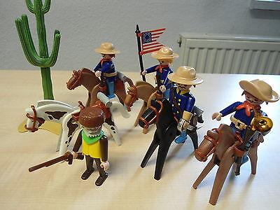 """Playmobil  Set 3485 """"Trapper mit US. Kavallerie""""  gebraucht"""