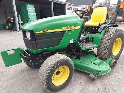 John Deere 4115 Compact Tractor W Mower Deck