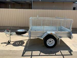 7X4 HEAVY DUTY GALVANISED SINGLE AXLE TRAILER WITH CAGE Pooraka Salisbury Area Preview