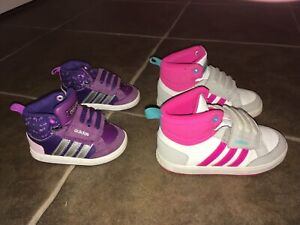 Adidas sneakers size 4 and 7 toddler