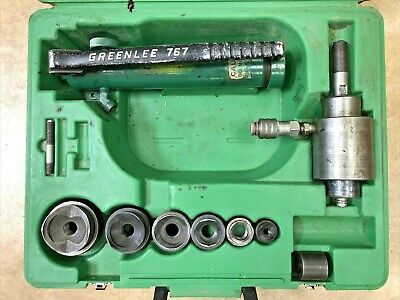 Greenlee Tool 12- 2 Hydraulic Knockout 767 Pump 746 Punch Driver Set