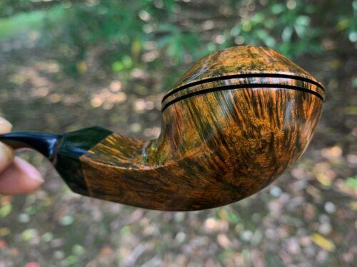 Wilson Handmade Pipe--Danish style Diamond bulldog Briar Wood Pipe----Unsmoked