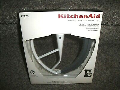KitchenAid KFE6L Bowl-Lift Flex Edge Beater Scraper 6 QT & NEW & FREE SHIPPING