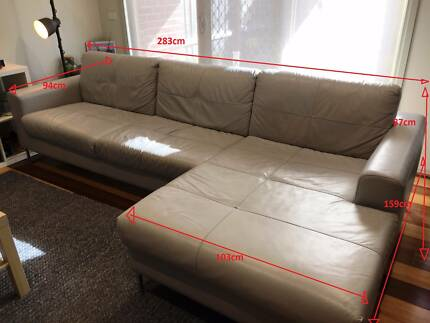 Good Quality Leather Couch - used