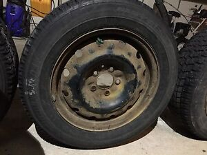 Winter tires on rims 205/65 R16 London Ontario image 2