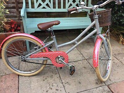 """Pendleton Hanberry Girls 20"""" Bike Kids Child Grey Pink"""