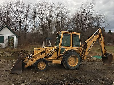 Ford Backhoe 655a 4x4 Forks Drainage Bucket   2001 Original Hrs