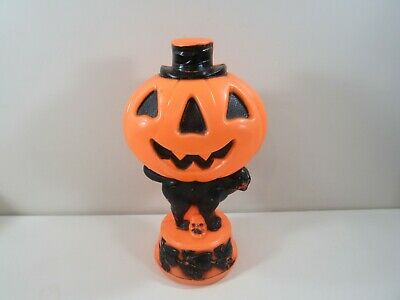 "Empire 13 3/4""h Halloween Pumpkin, Cat and Witches Blowmold ~ No cord/light"