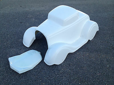 5 QTY 1932 Ford Coupe fiberglass body mailbox covers custom hot rod rat rod