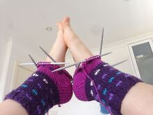 Learn how to knit! Winter is coming... Scarfs, socks, potholder.. Belrose Warringah Area Preview