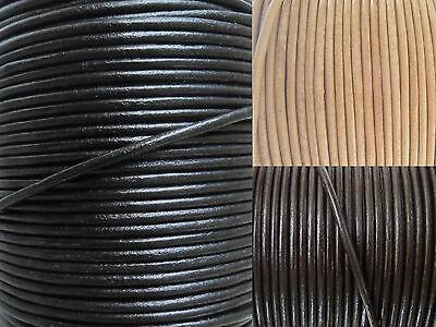 Lederband rund Ø 1 / 1,5 / 2 / 2,5 / 3 / 4 / 5 mm Lederriemen Lederbänder