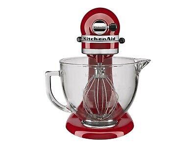 *New* KitchenAid KSM105GBCER 5-Qt. Stand Mixer w/ Glass Bowl - Empire Red