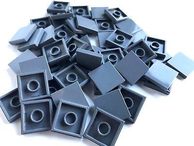 LEGO ®  50 Fliesen 2x2 in  dunkelgrau ( dark bluish gray ) , NEUWARE
