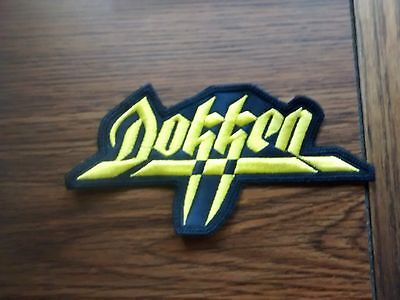 DOKKEN,SEW ON YELLOW,EMBROIDERED PATCH