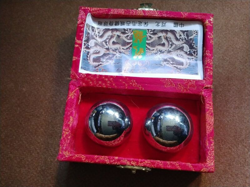 New classic Chinese Baoding Balls - Stress Relief Meditation Chime full Chrome