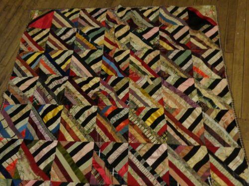 Unique Antique Vintage Crazy Quilt approximately 52 x 52