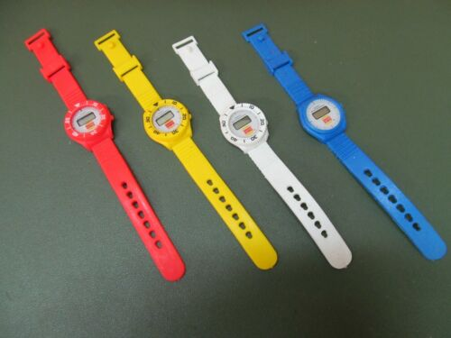 4 Vintage Burger King Wristwatches Advertising Promotional Watches NOS
