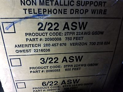 General Cable 2090008 222p Nm Support Telephone Service Drop Wire Asw Blk100ft