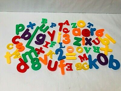 Alphabet Letters & Numbers Set Magnetic Educational Home School Phonics