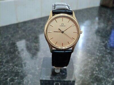 Omega De Ville Men's Gold Plated 1336 Cal Quartz Wristwatch Circa 1980.