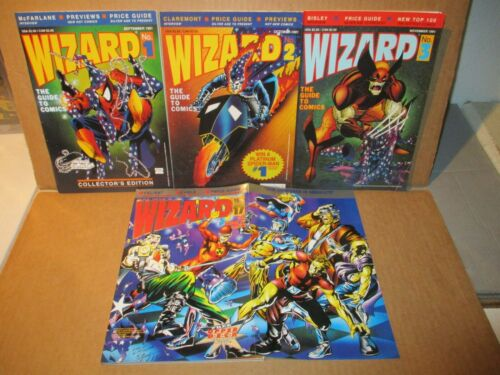 Wizard 1 San Diego Variant NM/MT + #2, 3, 17 Valiant Special NM with Posters LOT